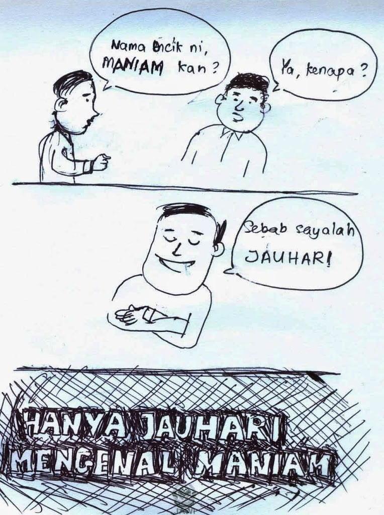 Wordless Wednesday Hanya Jauhari Mengenal Maniam