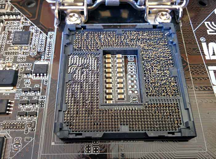 PIN CPU Intel Bengkok