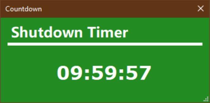 Shutdown Timer Classic countdown
